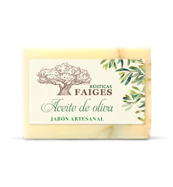 Jabón artesanal de aceite de oliva Rústicas Faiges